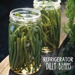 Make a quick batch of Refrigerator Dilly Beans in no time! They're perfect for Bloody Mary's , snacks and salads. Find  the recipe at Shutterbean.com !