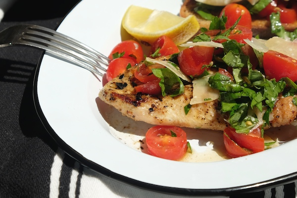 Grilled Chicken with Tomato Parsley Salad // shutterbean