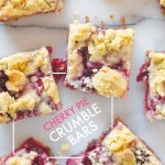 No patience to make a pie? Check out the recipe for these Cherry Pie Crumble Bars on Shutterbean.com!