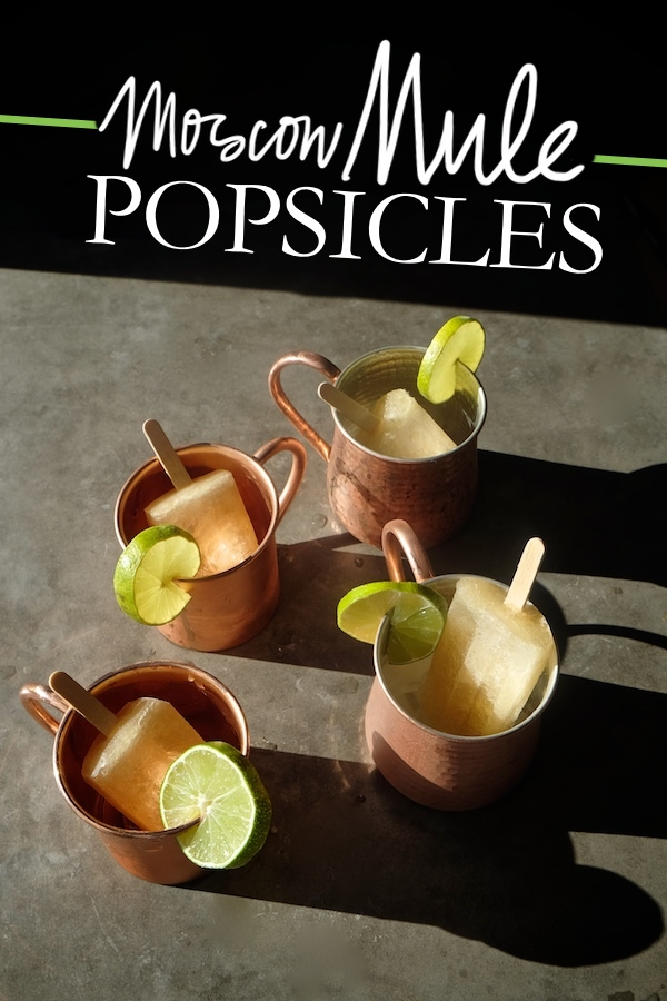 Combine your favorite cocktail with a popsicle with these Moscow Mule Popsicles! Recipe on Shutterbean.com