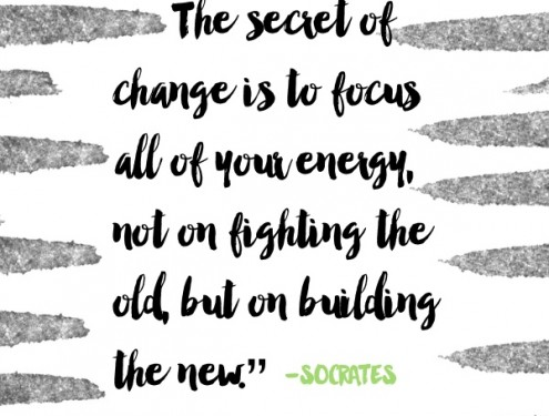 The secret of change is to focus // shutterbean
