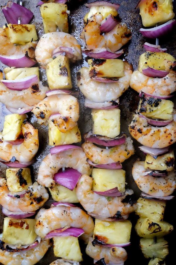 Grilled Shrimp & Pineapple Skewers // shutterbean