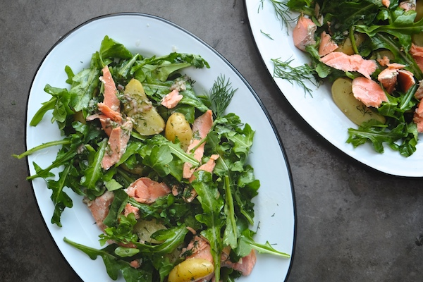 Salmon Potato Arugula Salad
