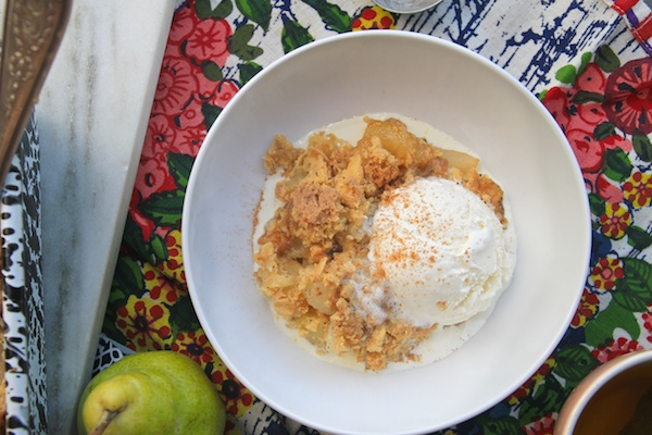 Burnt Butter Pear Ginger Crumble