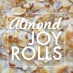Almond Joy Rolls with coconut cream cheese filling & chunks of melted chocolate melted inside. Check out the recipe on Shutterbean.com!
