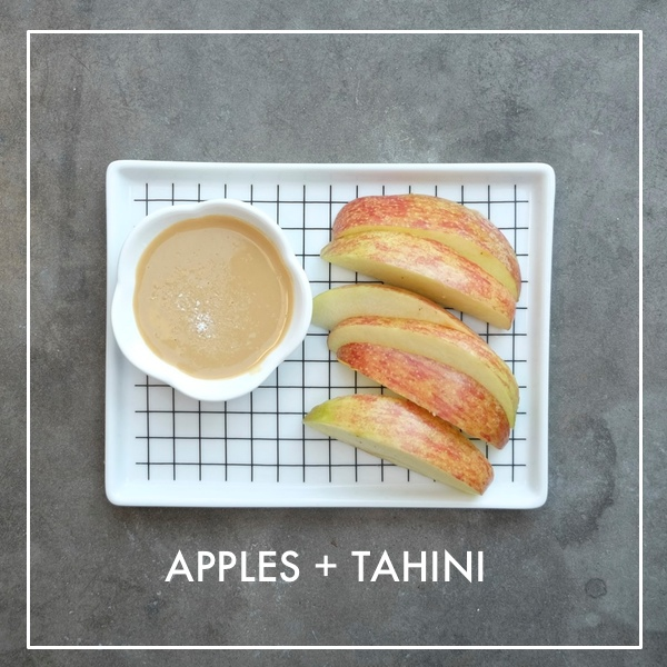 Apples with Tahini Dip