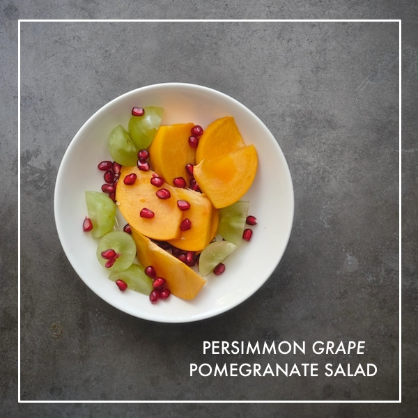 Persimmon Grape Pomegranate Salad // shutterbean