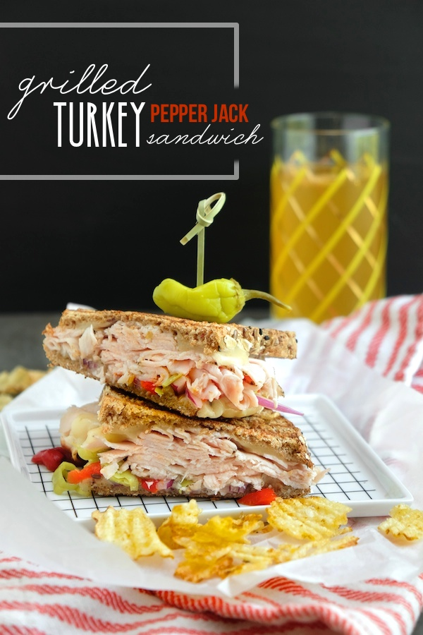 Grilled Turkey Pepper Jack Sandwich