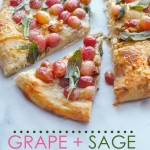 Roasted Grape & Sage Pizza should be added to your Autumn TO DO List!  Find the recipe at Shutterbean.com
