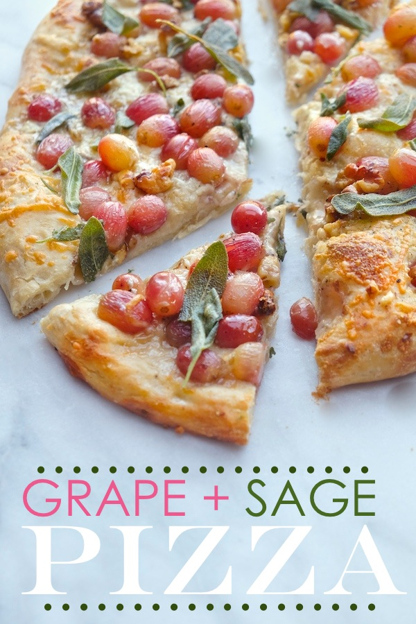 Roasted Grape Sage Pizza