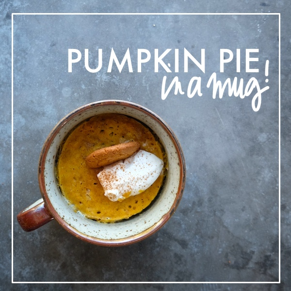Pumpkin pie is just minutes away with this Pumpkin Pie in a Mug recipe. Check it out on Shutterbean.com!