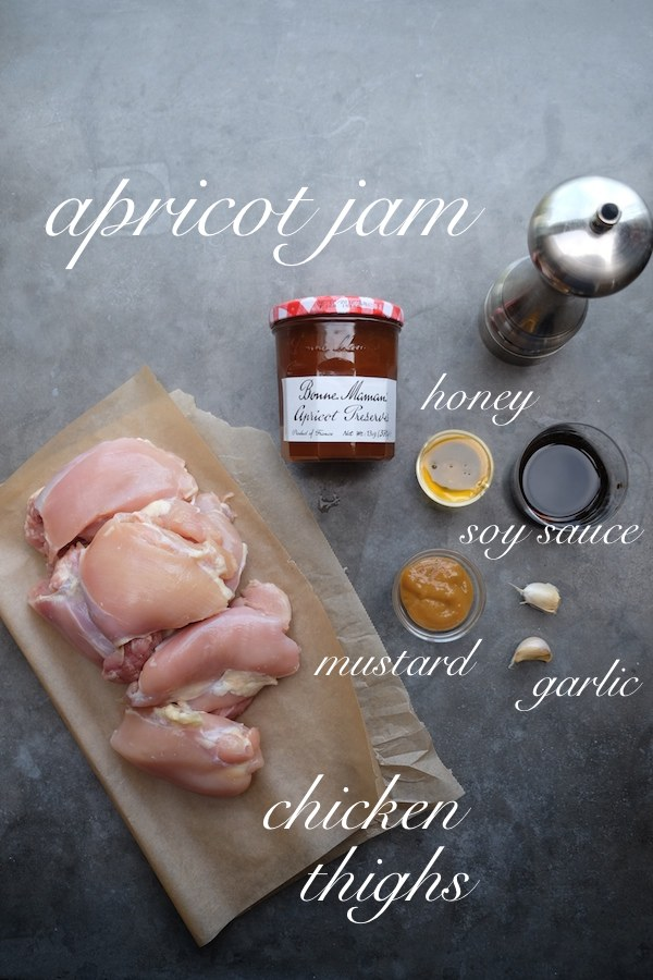 The most delicious & simple Apricot Glazed Chicken Thigh recipe can be found at Shutterbean.com!