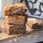 If you're looking to make your life easier this holiday season, make these Coconut Blondies! Recipe on Shutterbean.com