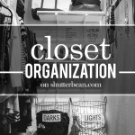 Around the Home- Closet Organization- Before & After Photos on Shutterbean.com