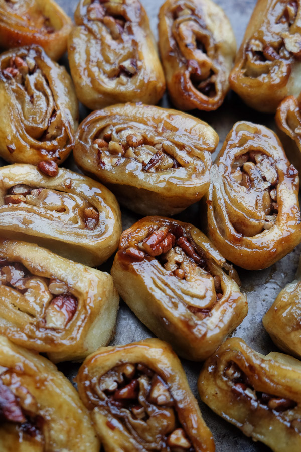 Brown Sugar Pecan Sticky Buns made with Pizza Dough! Find the recipe on Shutterbean.com