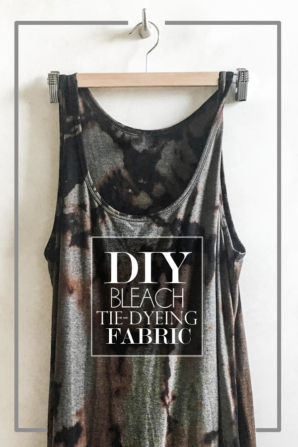 8297e85b71e4 DIY Bleach Tie Dyeing Fabric - Shutterbean