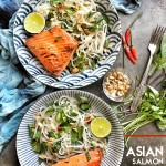 Spicy Asian Noodle Salad with a healthy dinner option for the Summer. Find the recipe on Shutterbean.com!