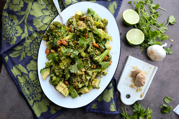 Lime Ginger Broccoli Salad