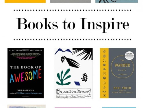 A collection of Books to Inspire put together by Tracy of Shutterbean.com!