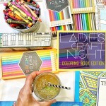 Ever wanted to host your own Ladies Craft Night? Tracy from Shutterbean shows you how she put together a coloring book party!