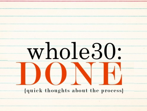 Thoughts after finishing Whole30 - see more on Shutterbean.com!