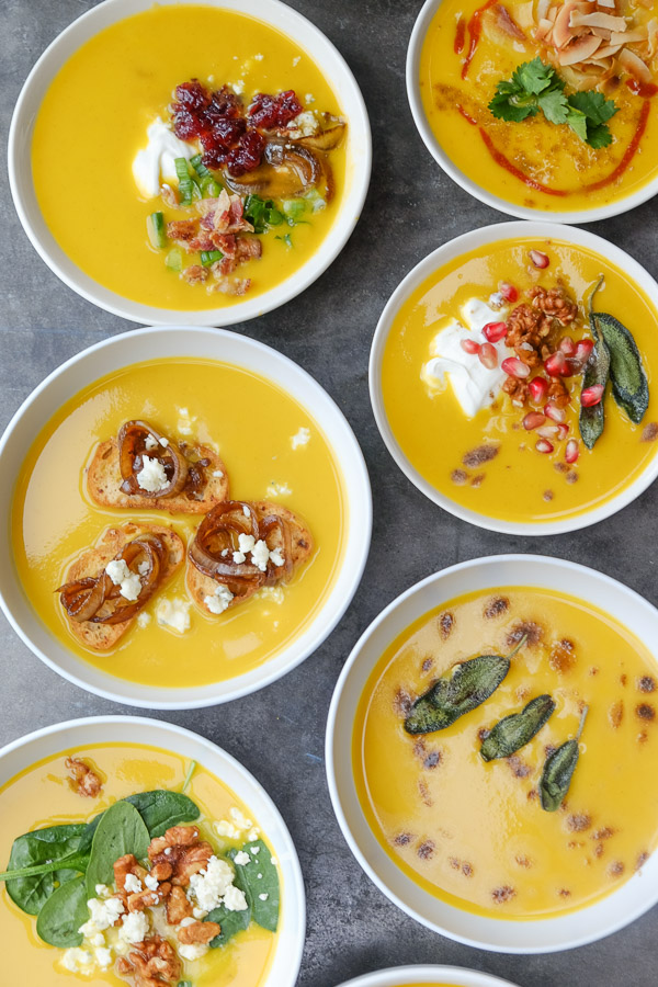Butternut Squash Soup 8 Ways