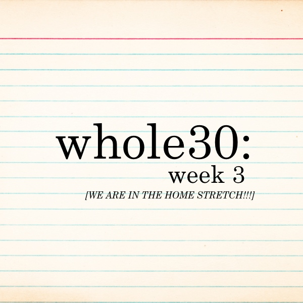 Whole 30 - Week 3 on Shutterbean.com