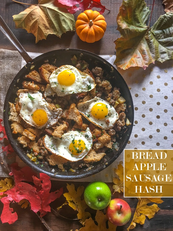 Bread Sausage Apple Hash