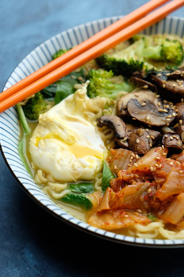 Dinner is just a few minutes away with this Mushroom Ramen recipe made with Imagine Broths & Soups. Find the recipe on Shutterbean.com!