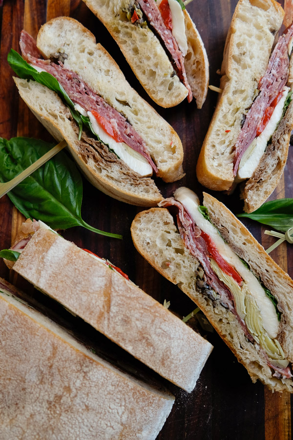 Italian Pressed Sandwiches for your Summer picnics! Find the recipe on Shutterbean.com