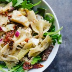 Mediterranean Pasta Salad is a weekly staple. Perfect for work lunches paired with extra greens. Find the recipe on Shutterbean.com