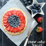 Small Batch Sugar Cookie Fruit Pizza -makes enough for 2-4 people. Recipe on Shutterbean.com