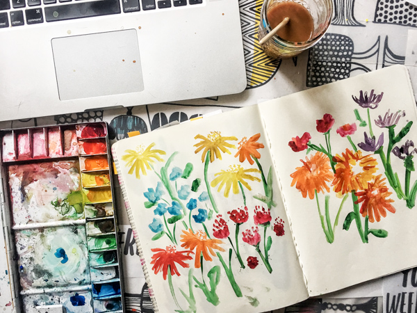 Looking to brush up on your watercolor painting? Take some Watercolor Classes with Skillshare! Tracy from Shutterbean.com shows you how fun it is!