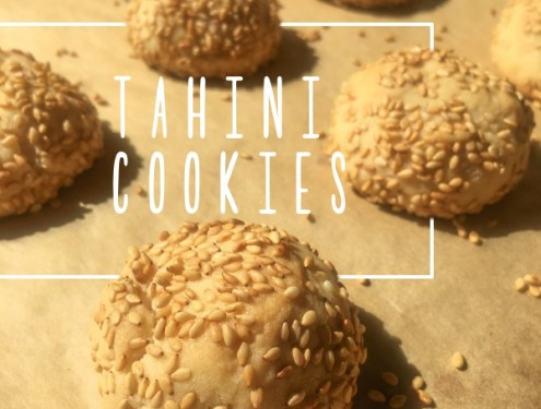 Tahini Cookies are like a grown up peanut butter cookie! Check out the recipe on Shutterbean.com
