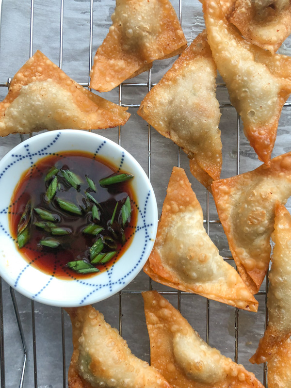 Forget takeout! Make Pork Scallion Wontons at home. They're so easy! Find the recipe at Shutterbean.com