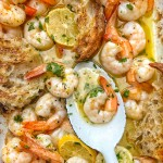 Lemon Garlic Roasted Shrimp makes weeknight dinner making EASY. Find the recipe on Shutterbean.com!