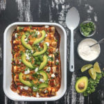 Chicken Enchiladas with Cumin Crema is a snap to put together. All you need is a rotisserie chicken! Find the recipe on Shutterbean.com