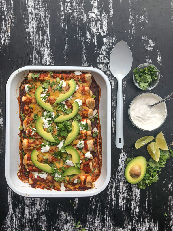 Chicken Enchiladas with Cumin Crema