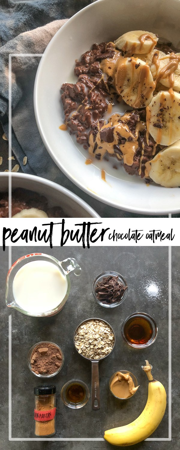Start the morning off with a little indulgent treat! Check out the recipe for this Chocolate Peanut Butter Oatmeal on Shutterbean.com