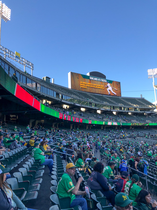Out & About: Oakland Coliseum - more on Shutterbean.com!