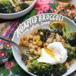 Need a quick/simple dinner? Make Roasted Broccoli with White Bean with Lemon. Put an egg on it! Recipe on Shutterbean.com!