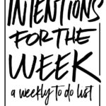 Every week, Tracy Benjamin from Shutterbean.com types up her TO DO list with her Intentions for the Week post. Check out this week's post!
