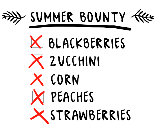 SUMMER BOUNTY!