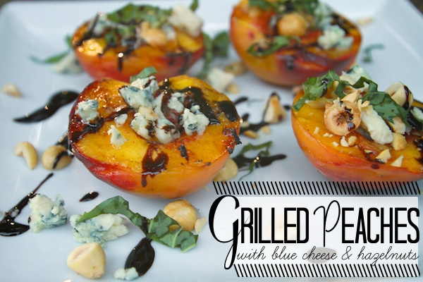 GRILLED PEACHES with BLUE CHEESE & HAZELNUTS// shutterbean