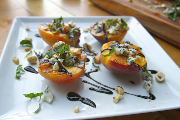 Grilled Peaches w/ Blue Cheese