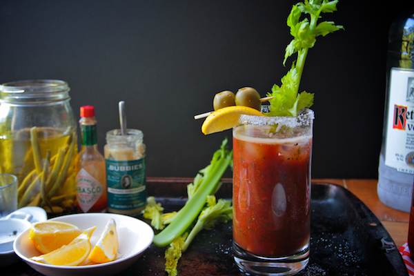 Tomato-Parsley Bloody Marys