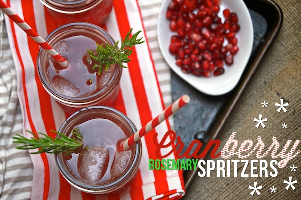 Cranberry Rosemary Spritzers