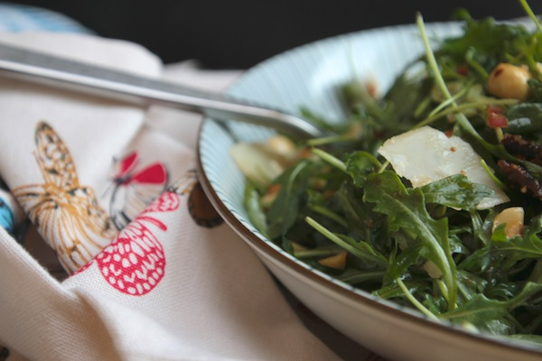 Arugula Hazelnut Salad w/ Fig Balsamic