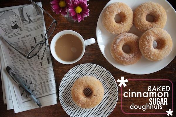 Baked Cinnamon Sugar Doughnuts
