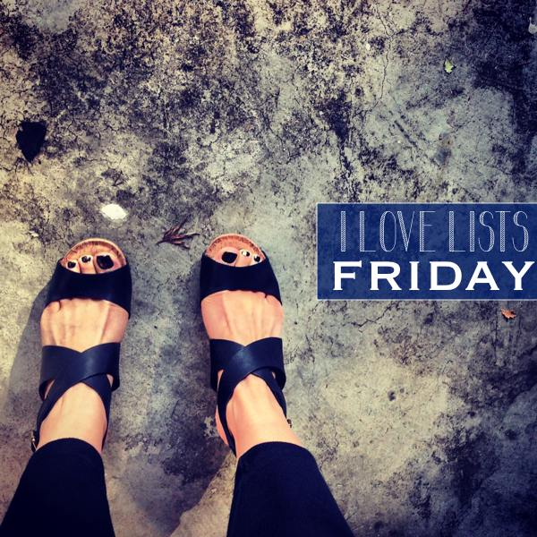 I love lists, Friday